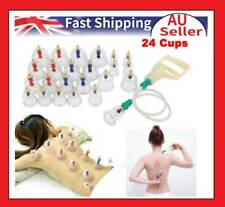 24 Cups Chinese Cupping Set Acupuncture Massage Body Pain Therapy Vacuum Suction