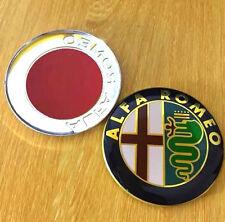 2x SET Alfa Romeo 74mm CLASSIC Emblem Badge 147 156 159 Mito GT For Front+Back