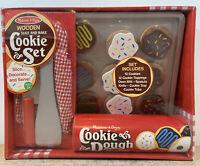 Melissa & Doug Slice & Bake Cookie Dough Wooden Play Set 12 Decorate & Serve NIB