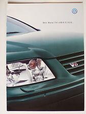 Prospekt Volkswagen Bora V6 4Motion Limousine, 7.1999, 16 Seiten