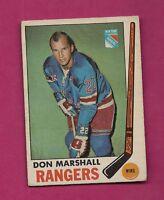 1969-70 OPC # 39 RANGERS DON MARSHALL EX CARD (INV#4936)