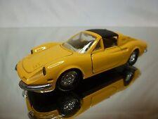 NOREV JET CAR METAL 824 FERRARI 246 GTS DINO - YELLOW 1:43 - GOOD CONDITION
