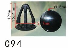20Pcs Nylon Fastener Rivet Retainer Retaining Clip Fit Toyota Mazda (15x15x8mm)