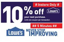 Two 2X Lowes 10% OFF2Coupons-Instore Only-_FAST_SENT-Valid_For_3-Days__