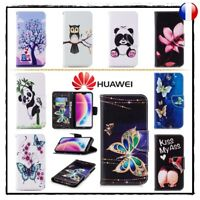 Etui coque housse Cuir PU Leather Stand Wallet case cover Huawei P20 ou P20 Lite