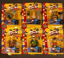 The Simpsons Playmates Series 5 COMPLETE Set of (6) Figures Carded
