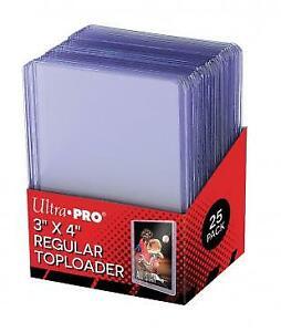 Brand New - UltraPro 3x4 Top loaders Rigid Case 25 Toploaders *READ DESCRIPTION*