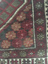 Vintage Tribal Carpet Rug Middle Eastern Wool Estate 49 By 32 Multi Color