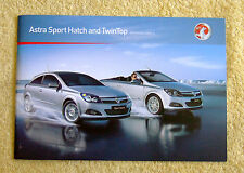 Vauxhall Astra Mk5 Sport Hatch & Twintop Range 2010 Models No2 inc SRi
