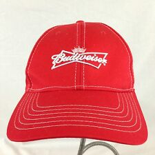 Budweiser Beer Logo Red Ball Cap Hat Suffolk Peanut Festival 2012 Hook And Loop