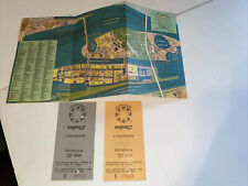 MONTREAL OFFICIAL EXPO 67 HOVERCRAFT TICKETS PLUS EXPO 67 MAP CLEAN G PORCELL VG