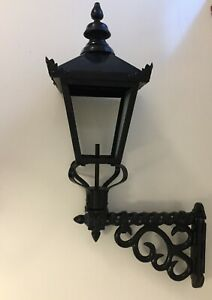 Cast wall lamp wrought iron - ex display, 2 available