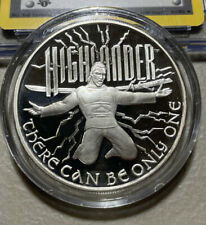 2 Oz Silver Highlander There Can Only Be One Iv Proof Like .999 Silver Round