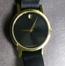 Movado Women's Museum Dial Watch 87 A1 832 New Battery Scratches On Crystal