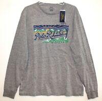 Polo Ralph Lauren Mens Size L Grey Heather L/S Crewneck T-Shirt NWT Size L
