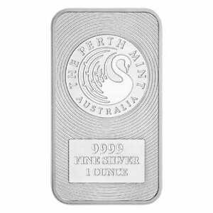 Australian Kangaroo 1oz .9999 Silver Minted Bullion Bar - The Perth Mint