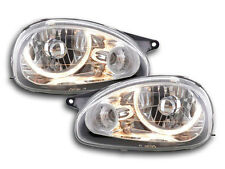 Vauxhall / Opel Corsa B MK I 1993-2000 Chrome Angel Eyes Headlights Set RHD NEW