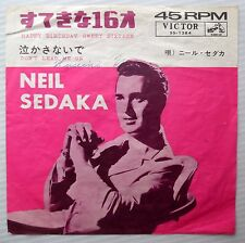 NEIL SEDAKA teen JAPAN ps 45 HAPPY BIRTHDAY SWEET SIXTEEN DON'T LEAD ME ON  F346