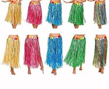 Adult HAWAIIAN HULA SKIRTS Summer Party Fancy Dress Ladies Various lengths +size