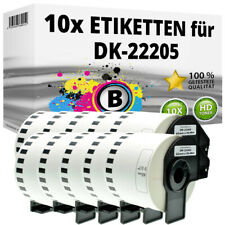 10x Etiketten kompatibel Brother P-Touch QL-1050N 1060N 500A 550 570 650TD 700