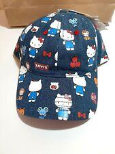 Levis Hello Kitty 45th Anniversary Denim Baseball Cap - Adjustable - NEW