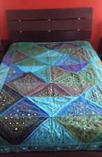 Very Special quilt Great For Queen Full Or Twin Bed Hand Made From India