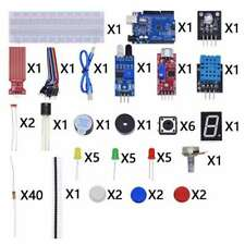 New Listing84pcs Beginners Simple Set 86 Pieces For Arduino Uno R3 Starter Kit With Box