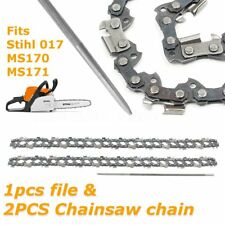 "2X 14"" Chainsaw Chain Semi Chisel 3/8 0.043"" 50DL & File for Stihl 017 MS170 171"