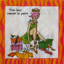 TRUE LOVES COMES IN PAIRS SMALL NAPKINS (30) ~ Adult Birthday Party Supplies