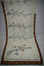 Vintage Hand Painted Flowers Design Pure Tussar Silk Sari Zari Hand Woven Saree