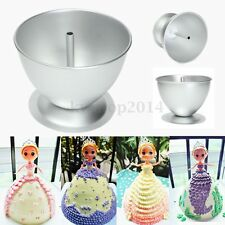 3D Wonder Princess Dress Doll Cake Fondant Baking Pan Decorate Mould Party Tin