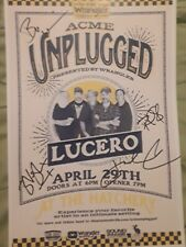 Lucero signed concert flyer Acme radio unplugged the Hatchery Proof