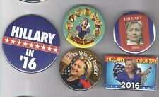 5 pin 2016 pin HILLARY Clinton button Democratic Party  Primary