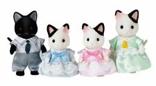 Sylvanian Families Doll Charcoal Cat Family FS-05