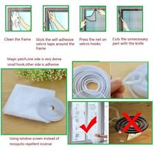 White Large Window Screen Mesh Net Insect Fly Bug Mosquito Moth Door Netting New