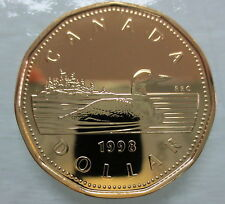 1998W CANADA LOONIE PROOF-LIKE ONE DOLLAR COIN