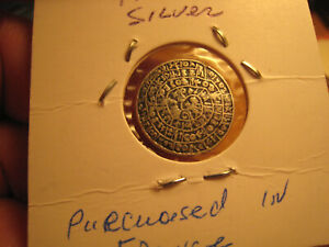 1702 Silver calendar token 15mm. extremly rare