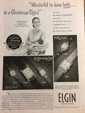 Patricia Morison, Elgin Watches, Full Page Vintage Print Ad