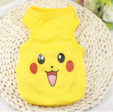Dog Clothes Pikachu Pokemon Yellow Dog T Shirt Small Dog or Cat Ships from Us