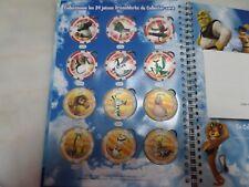 24 jetons dreamworks cora 2011 - collection complète