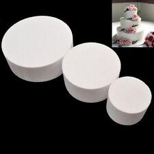 4/6/8/inch Round Styrofoam Foam Cake Dummy Sugarcraft Flower Patrice Model Decor