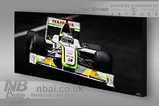 Jenson Button 2009 F1 Mundial chamapion 30x15 Lona Braun GP F1