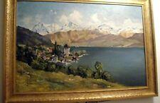 Glasemann Ölgemälde 1954 Bayern/ Österreich/ Schweiz 80 x 57 cm
