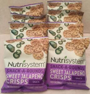 💕 8 FRESH~ Nutrisystem SNACK Sweet Jalapeno Crisps Chips