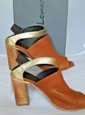 RRP€120 LEMARE Leather Slingback Mules Size 39 UK 6 Tan
