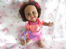 1990 BABY FACE SO PLAYFUL PENNY AFRICAN AMERICAN AA DOLL...VHTF... ORIG.DRESS