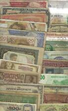 WORLD MIX ~ 25 X OLD PAPER MONEY LOT # 4380 (*-*) POOR GRADE
