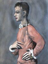 """Pablo Picasso Pochoir """" BOY IN HARLEQUIN JACKET"""""""
