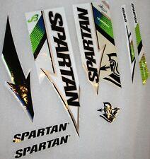 SPARTAN Hurricane Cricket bat Stickers - 1 Full SET of Labels for 1 Bat