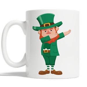 Dabbing Leprechaun Mug For St Patricks Day Coffee Cup Gift Idea Funny Kid JA76
